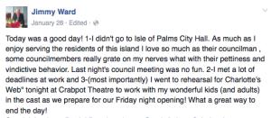 Jimmy complaining on FB
