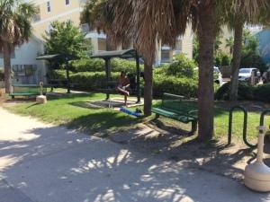 Front beach bench